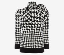 Jacquard-Pullover mit Hahnentrittmuster