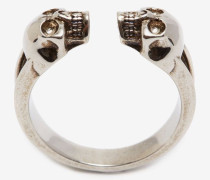 Ring mit Twin Skull