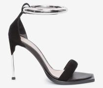 Sandalen mit Reif und Stilettoabsatz