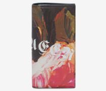 Große klappbare Brieftasche mit Painted Rose-Print