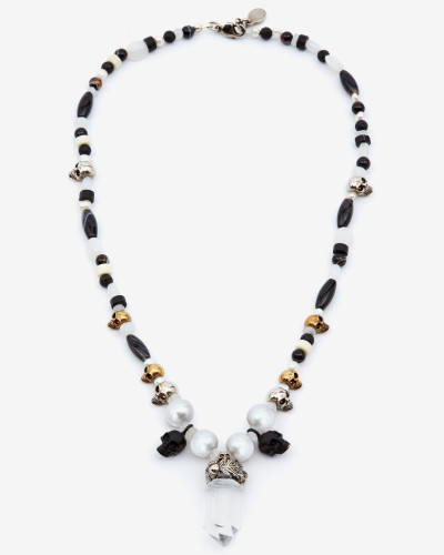 Halskette mit Quarzkristall