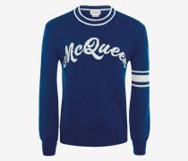 Pullover mit Rundhalsausschnitt und McQueen-Intarsie