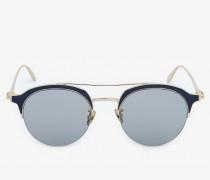 Sonnenbrille aus Metall mit Skull