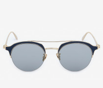 Panthos-Sonnenbrille aus Metall mit Skull