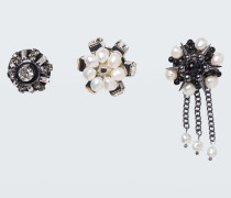 JEWELLED SENSATION set of 3 button brooches