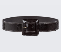 GLOSSY AMBITION waist belt with lac buckle (4,5cm) 95