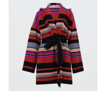 BOHEMIAN STRIPES coat v-neck 1/1 2