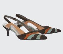 COLOUR MIX CHIC material mix kitten heel (5cm) 38