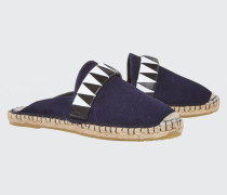 SUMMER SOFTNESS mule espadrille with woven leather 38