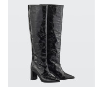 GLOSSY AMBITION tall pull on boot (7cm) 38