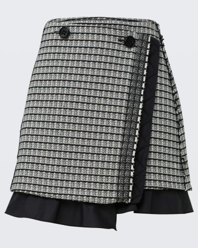 POETIC CONTRAST mini wrap skirt 2