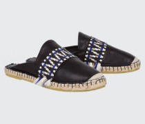 SUMMER SOFTNESS mule espadrille with ethnic tape 38