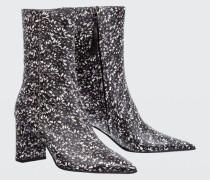 FLORAL FUSION printed point boot (7cm) 38