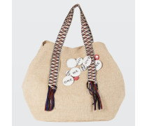 SUMMER SOFTNESS canvas bag with ethnic tape