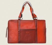 WEEKEND WANDERLUST translucent weekend bag with woven ecopell handles