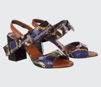 EXOTIC ADVENTURE bow detail sandal (7cm) 38