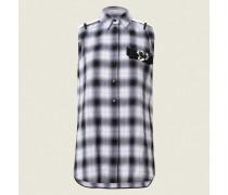 FRAGMENTED CHECKS blouse no arm 2