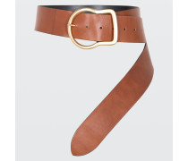 BOLD STATEMENT big buckle belt (6cm) 75