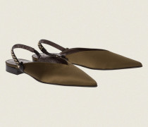 SUMPTUOUS SATIN flat slipper with moveable back strap 38