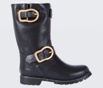 BOLD BIKER biker gummy rain boot with sheep wool blend lining 38