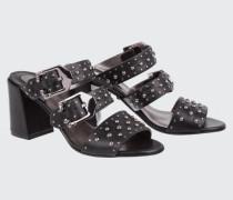 STUDDED ATTITUDE studded mule sandal (7cm) 38