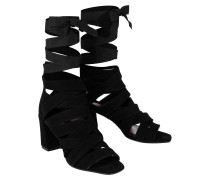 FEMININE SOFTNESS ankle tie wrap sandal (7cm)