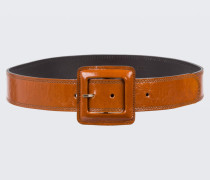 GLOSSY AMBITION waist belt with lac buckle (4,5cm) 75