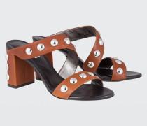 STUDDED CHIC Oversize Stud Sandal 7cm 38