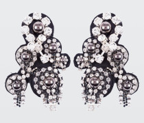 ROCK GLAM embroidery clip earrings