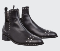 STUDDED ATTITUDE studded flat boot 36