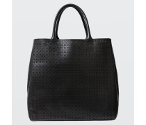 LEATHER LACE laser cut tote bag