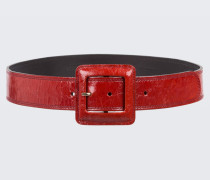 GLOSSY AMBITION waist belt with lac buckle (4,5cm) 100