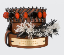 DELIGHTFULLY DECORATED branded triple-wrap bracelet