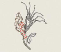 SPARKLING NATURE caterpillar brooch