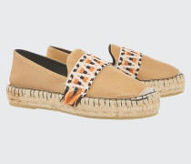 SUMMER SOFTNESS classic espadrille with ethnic tape 38
