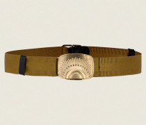 BELTED STATEMENT stretch belt with rising sun clip buckle S