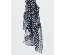 FRILLED ATTRACTION frill detail print scarf