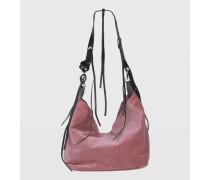 WILD VELVET velvet bag with adjustable leather handle