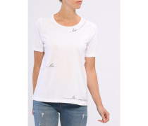 Damen T-Shirt Rundhals mit Print
