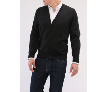 Big Size, Herren Cardigan, Merinowolle Superwash