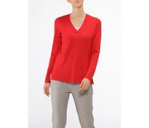 Damen Pullover V-Ausschnitt, Modern Merino