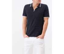 Herren Strick-Poloshirt, Modern Fit, Merinowolle Extrafein