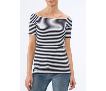 Damen T-Shirt Rundhals gestreift