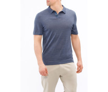 Herren Strick-Poloshirt, Modern Fit, Summer Merino