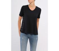 Damen T-Shirt V-Ausschnitt mit seitl. Einsätzen