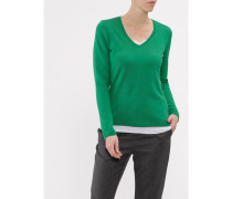 Damen Pullover V-Ausschnitt, Merino Basic