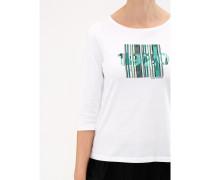Damen Shirt Rundhals 3/4 Arm, mit Print