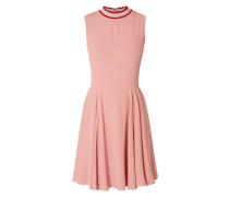 Kleid mit geripptem Stehkragen