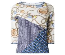 Blusenshirt aus Lyocell-Baumwoll-Mix