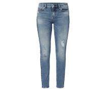 Skinny Fit Jeans mit Used-Effekten